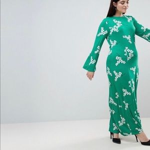 Plus size Asos green dress